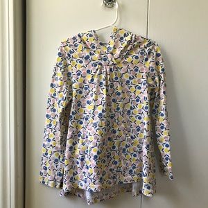 Tea Collection girls hooded pullover sz 7